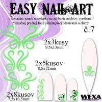 Easy Nail Art č. 7 - bledozelená