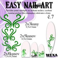 Easy Nail Art č. 7 - tmavozelená