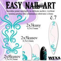 Easy Nail Art č. 7 - bledotyrkysová