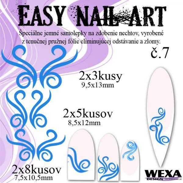 Easy Nail Art č. 7 - tmavomodrá