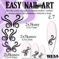 Easy Nail Art č. 7 - čierna