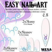 Easy Nail Art č. 8 - bledomodrá
