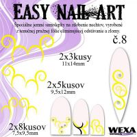 Easy Nail Art č. 8 - žltá