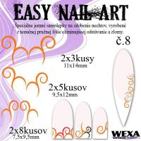 Easy Nail Art č. 8 - oranžová