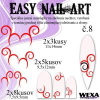 Easy Nail Art č. 8 - červená