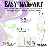 Easy Nail Art č. 8 - bledozelená