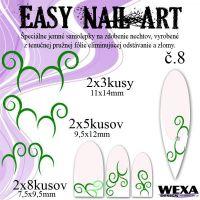 Easy Nail Art č. 8 - tmavozelená