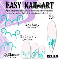 Easy Nail Art č. 8 - bledotyrkysová