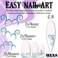 Easy Nail Art č. 8 - tmavomodrá