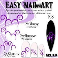 Easy Nail Art č. 8 - fialová