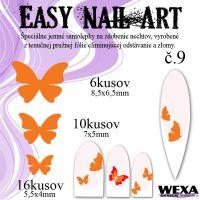 Easy Nail Art č. 9 - oranžová