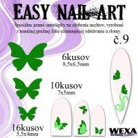 Easy Nail Art č. 9 - tmavozelená