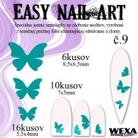Easy Nail Art č. 9 - tmavotyrkysová