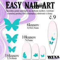 Easy Nail Art č. 9 - bledotyrkysová