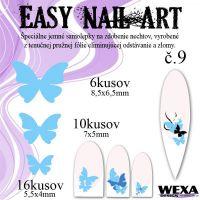 Easy Nail Art č. 9 - bledomodrá