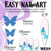 Easy Nail Art č. 9 - tmavomodrá