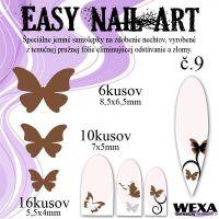Easy Nail Art č. 9 - hnedá