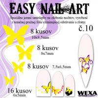 Easy Nail Art č. 10 - žltá
