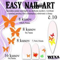 Easy Nail Art č. 10 - oranžová