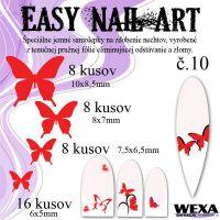 Easy Nail Art č. 10 - červená
