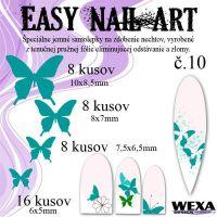 Easy Nail Art č. 10 - tmavotyrkysová