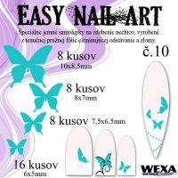 Easy Nail Art č. 10 - bledotyrkysová
