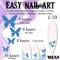 Easy Nail Art č. 10 - tmavomodrá