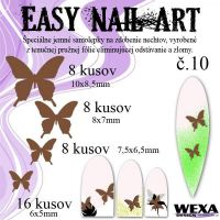 Easy Nail Art č. 10 - hnedá