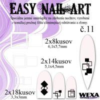 Easy Nail Art č. 11 - biela