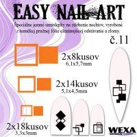 Easy Nail Art č. 11 - oranžová