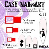 Easy Nail Art č. 11 - červená