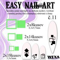 Easy Nail Art č. 11 - bledozelená