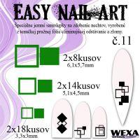 Easy Nail Art č. 11 - tmavozelená