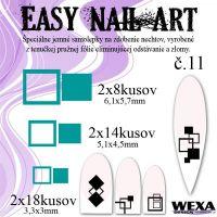 Easy Nail Art č. 11 - tmavotyrkysová