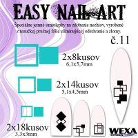 Easy Nail Art č. 11 - bledotyrkysová