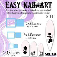 Easy Nail Art č. 11 - bledomodrá