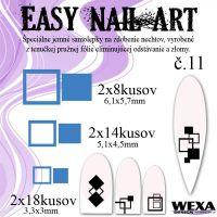 Easy Nail Art č. 11 - tmavomodrá