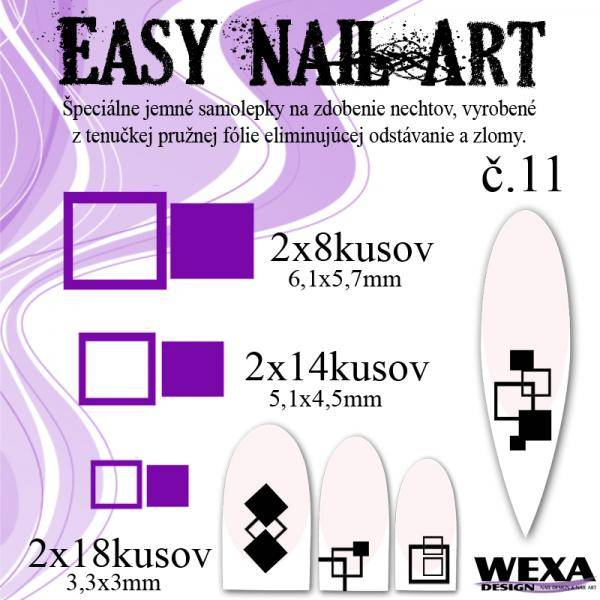 Easy Nail Art č. 11 - fialová