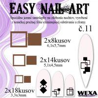 Easy Nail Art č. 11 - hnedá