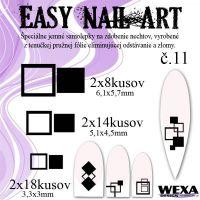 Easy Nail Art č. 11 - čierna