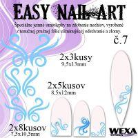 Easy Nail Art č. 7 - bledomodrá