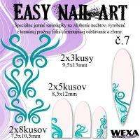 Easy Nail Art č. 7 - tmavotyrkysová