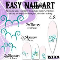 Easy Nail Art č. 8 - tmavotyrkysová