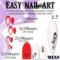Easy Nail Art č. 5 - červená