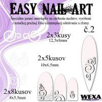 Easy Nail Art č. 2 - biela