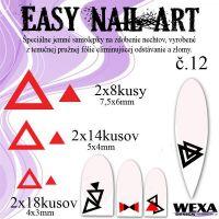 Easy Nail Art č. 12 - červená