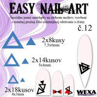 Easy Nail Art č. 12 - tmavomodrá
