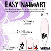 Easy Nail Art č. 12 - biela