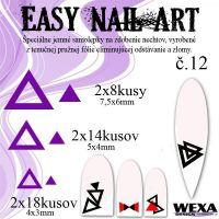 Easy Nail Art č. 12 - fialová