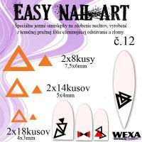 Easy Nail Art č. 12 - oranžová